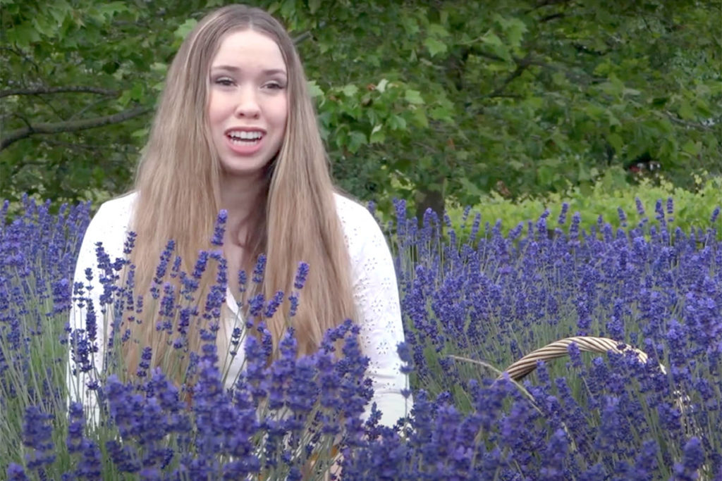 Essie Boelema, a 17-year-old lavender farmer, is passionate about the plant. (Screenshot/Special to The Star)