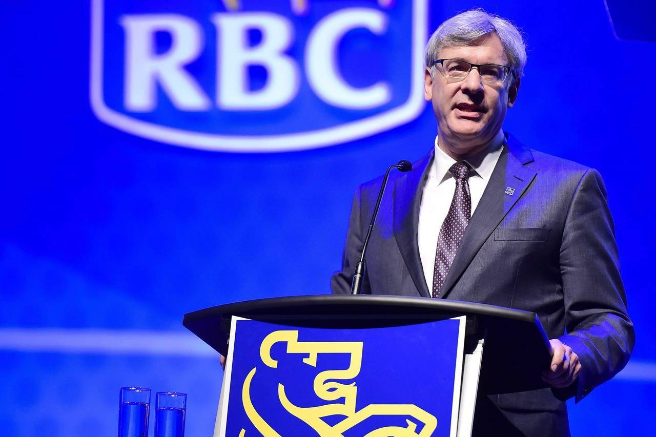 Royal Bank president Dave McKay speaks at the Royal Bank of Canada annual meeting in Toronto on Thursday, April 6, 2017. THE CANADIAN PRESS/Frank Gunn