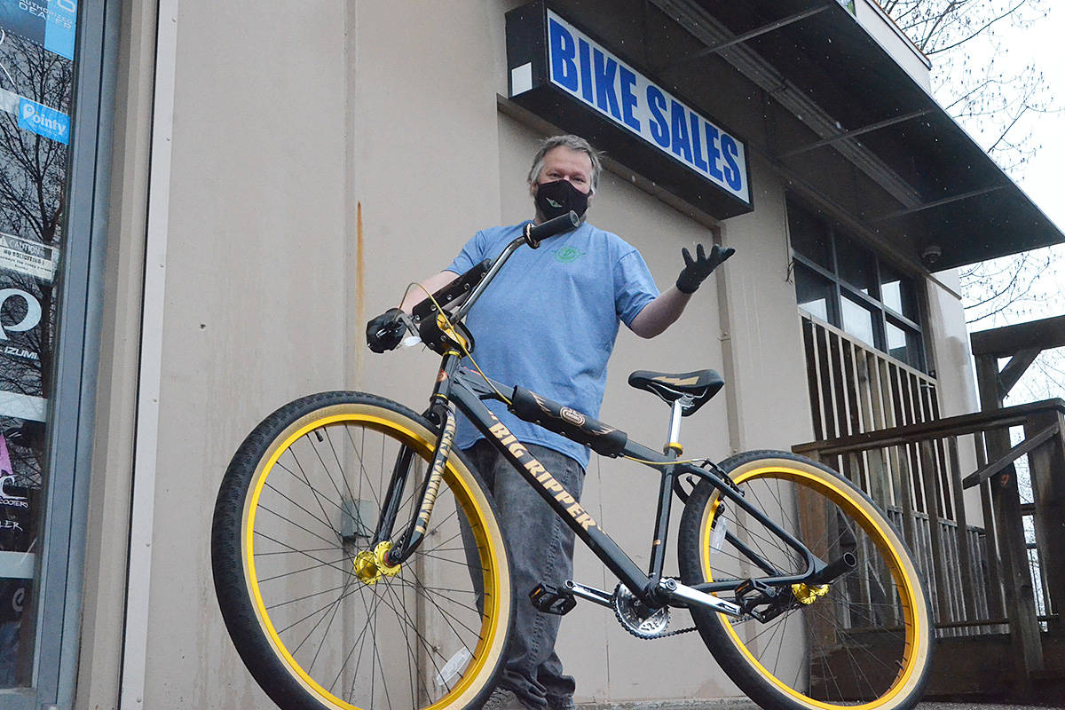 Peterson, owner of Velocity Cycling in Walnut Grove, said it's still hard to get enough bikes and parts, more than a year into the pandemic-inspired cycling boom. (Matthew Claxton/Langley Advance Times)