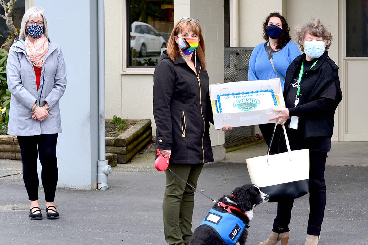 Zoe Leadership Program members from Living Waters Church donate food to Parkside. (Ryan Uytdewilligen/Aldergrove Star)