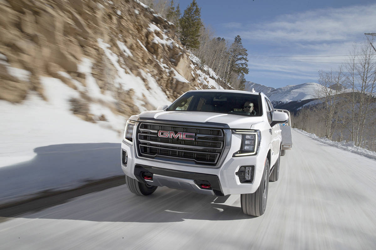 For such a large and bulky vehicle, the Yukon's design is tidy and elegant. The AT4 is the off-road member of the family with underbody skid plates and a two-speed transfer case. PHOTO: GENERAL MOTORS