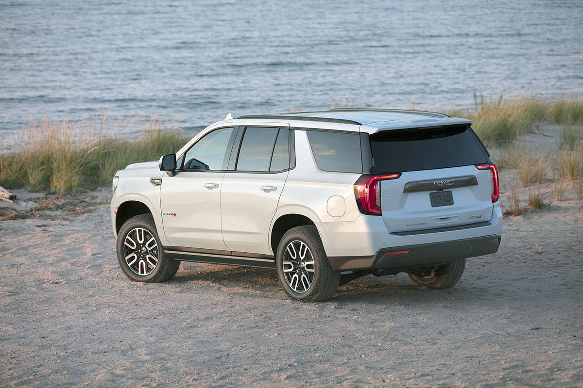For 2021, the GMC Yukon AT4 has been redesigned, top to bottom.