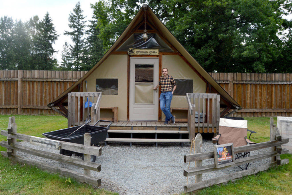 One of the oTentiks available for rent at Fort Langley National Historic Site. (Aldergrove Star files)