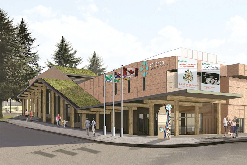 Langley Township is planning to construct a multi-use arts and cultural centre in Fort Langley. (Langley Township graphic)
