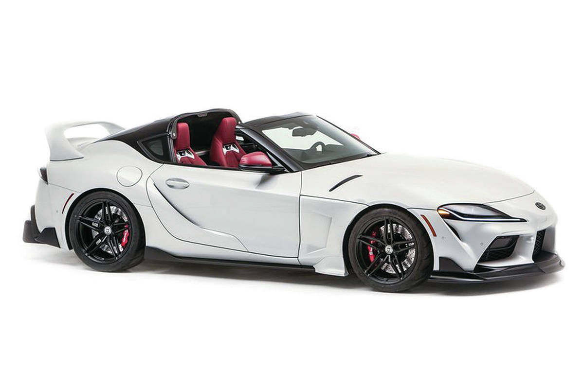 A Toyota Supra shown at the recent SEMA360 virtual trade show could signal the arrival of an open-top model, but The Sleuth thinks it would not come with the exaggerated bodywork. PHOTO: TOYOTA