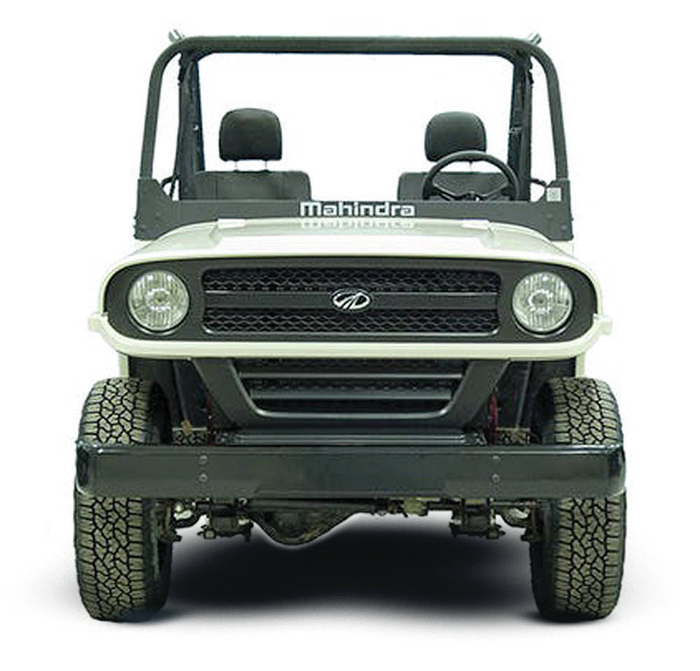 The Roxor utility vehicle looked too much like the Jeep Wrangler, so it was redesigned to look like this. PHOTO: Mahindra