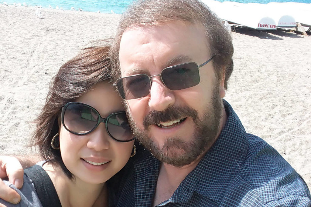 Timothy Sauve and his partner Julie Garcia pose for a selfie on Toronto's Centre Island in a Sept. 7, 2018, handout photo. Sauve, a 61-year-old from Mississauga, Ont., was rushed to hospital with a deteriorating condition that eventually required a double-lung transplant —believed to be the first done in Canada on a patient whose lungs were irreparably damaged by COVID-19. THE CANADIAN PRESS/HO-Timothy Sauve, *MANDATORY CREDIT