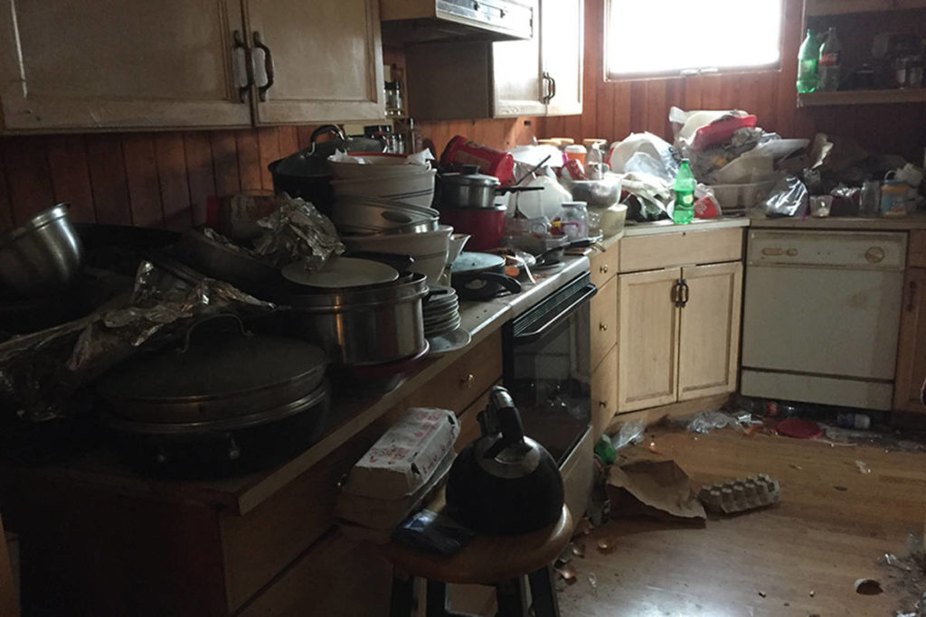 Part of the massive mess left behind in a Spallumcheen rental home owned by Wes Burden, whose tenants bolted from the property in the middle of the night. Burden is now facing a hefty cleaning and repair bill as a result. (Photo submitted)