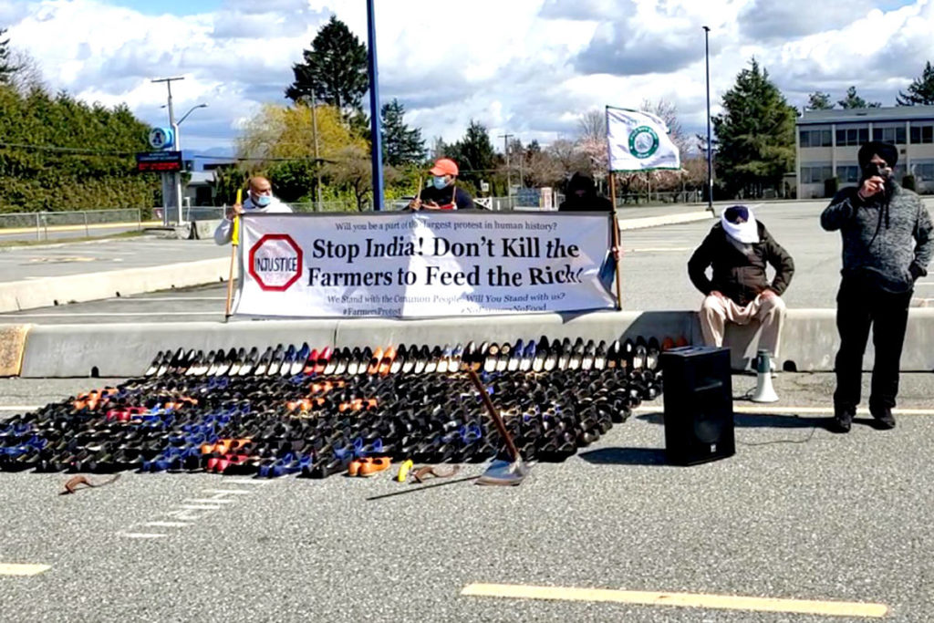 Basmodi protest on Saturday, April 10 at Aldergrove Community Secondary School. (Special to The Star)