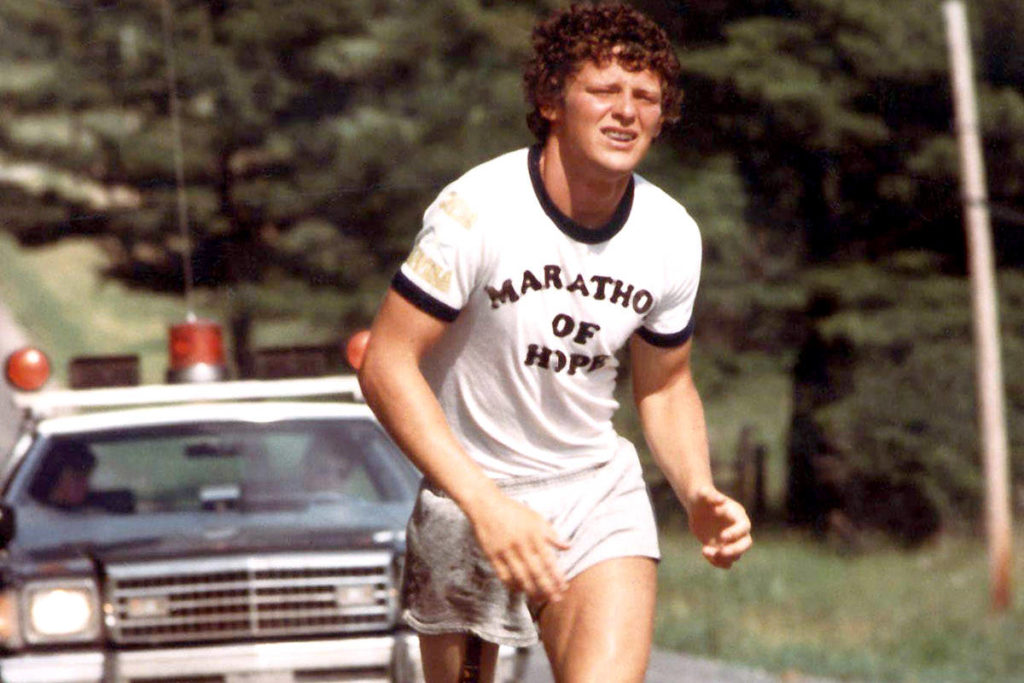 Marathon of Hope runner Terry Fox is shown in a 1981. (THE CANADIAN PRESS/CP)