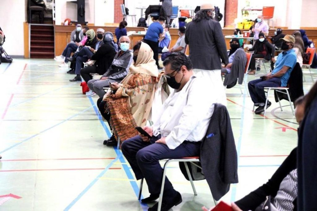 In Ontario, COVID-19 vaccine clinics have been set up at local mosques. (Submitted photo: Rufaida Mohammed)