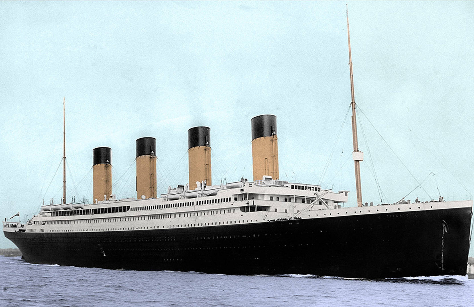 Titanic was the largest and most luxurious ship in the world. Photo provided and colourized by Jiri Ferdinand.