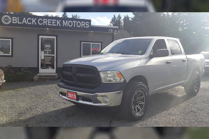 This 2013 Dodge Ram 1500 was stolen from Black Creek Motors at approximately 2 a.m. Sunday, April 11. Photos via blackcreekmotors.com