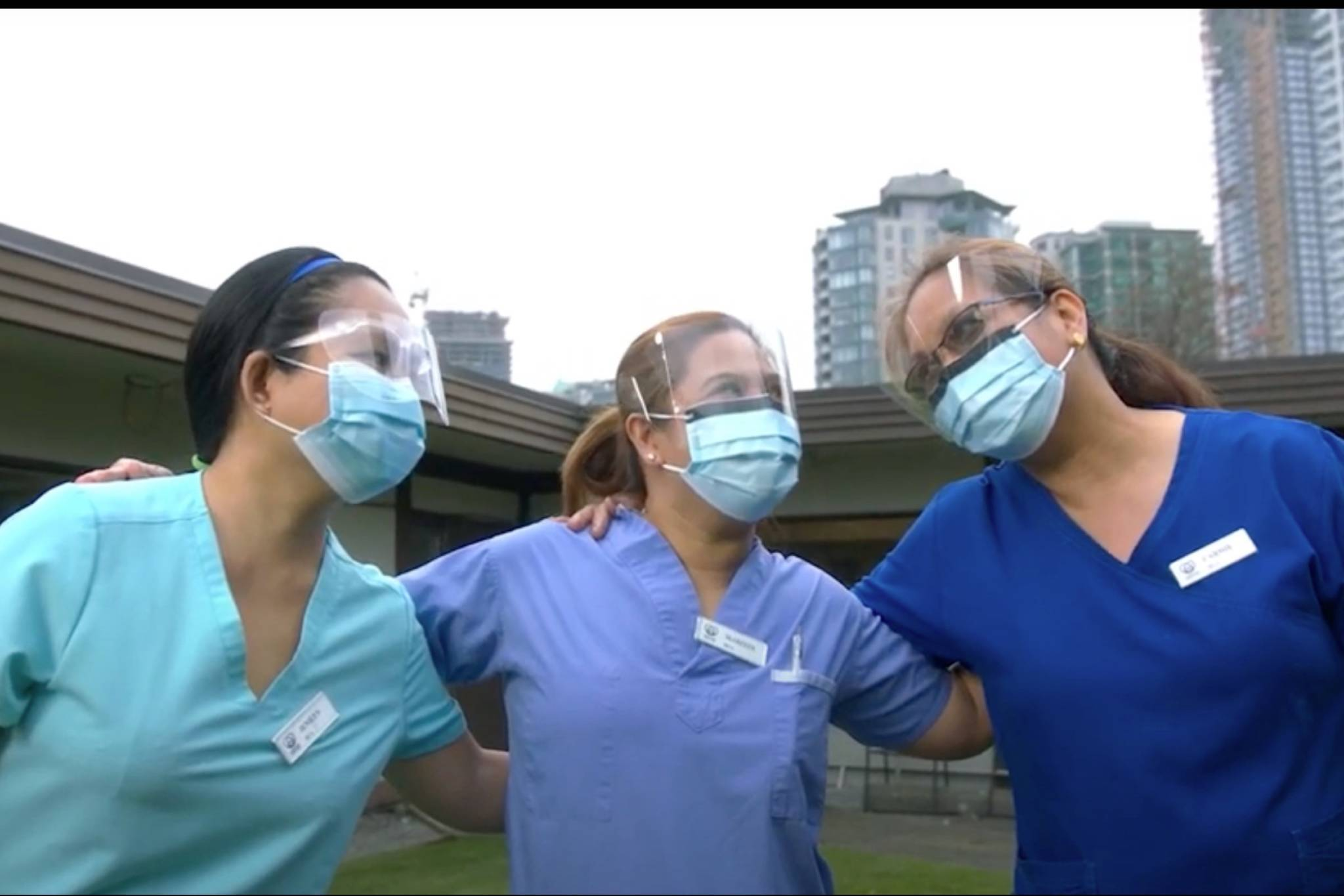 "The music video for ""Green and Blue"" featured a Willington Care Centre in Burnaby as well as some of the volunteers and employees. (Screenshot/Todd Richard)"