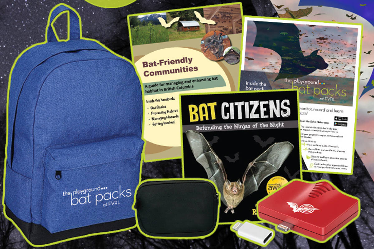 Bat Packs are the newest addition to the FVRL Playground, and have everything you need to learn more about bats, and track them in your neighbourhood. (FVRL image)