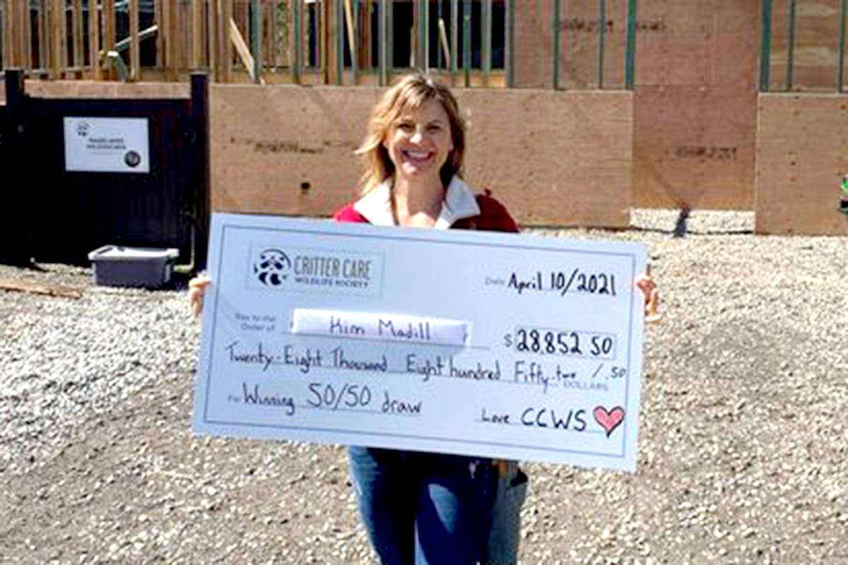 Critter Care's first ever 50/50 winner is Kim Madill, who took home $28,852.50. (Critter Care/Special to The Star)