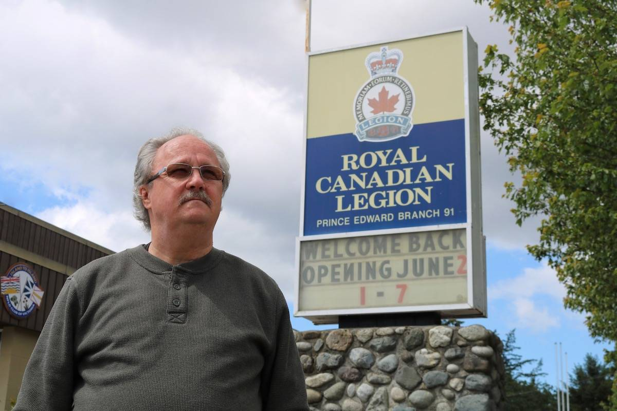 Norm Scott, president of Royal Canadian Legion Branch # 91, is disappointed the Legion does not qualify for COVID financial assistance from the provincial government. (Black Press Media file photo)