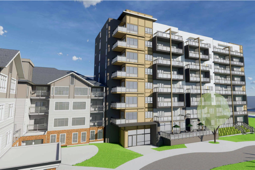 An agreement between the City and the Langley Lions Housing Society would set out income and age requirements for the new Birch replacement building (Langley City image)