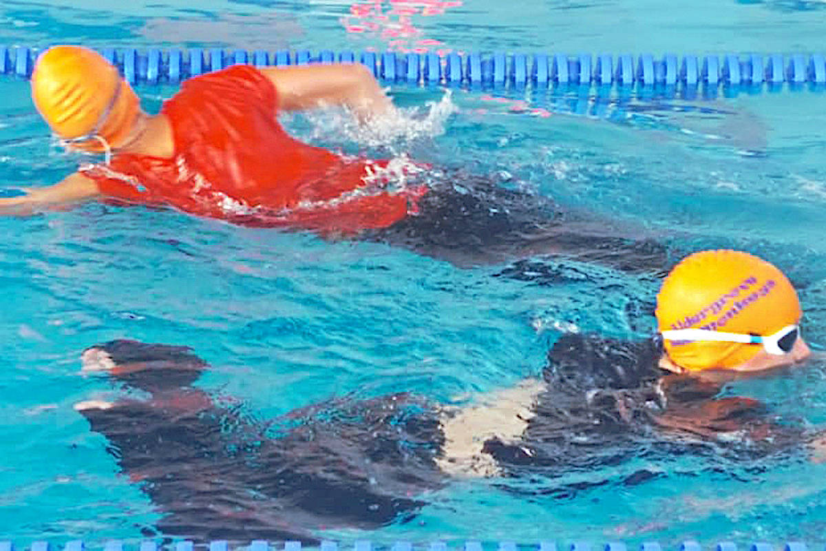 Previously, Aldergrove Sea Monkeys swimmers trained while passing one another in the same lane at the ACUCC pool. (Aldergrove Star files)