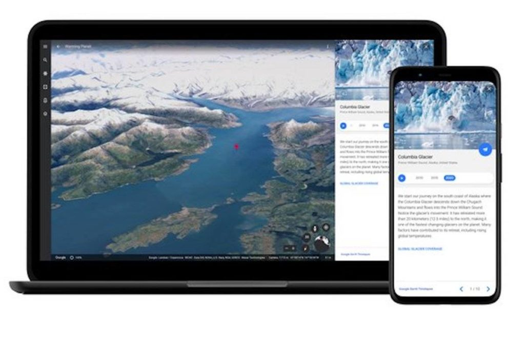 Google says it undertook the complex project in partnership with several government agencies, including NASA, in hopes that it will help a mass audience grasp the sometimes abstract concept of climate change in more tangible terms. (Google Earth)