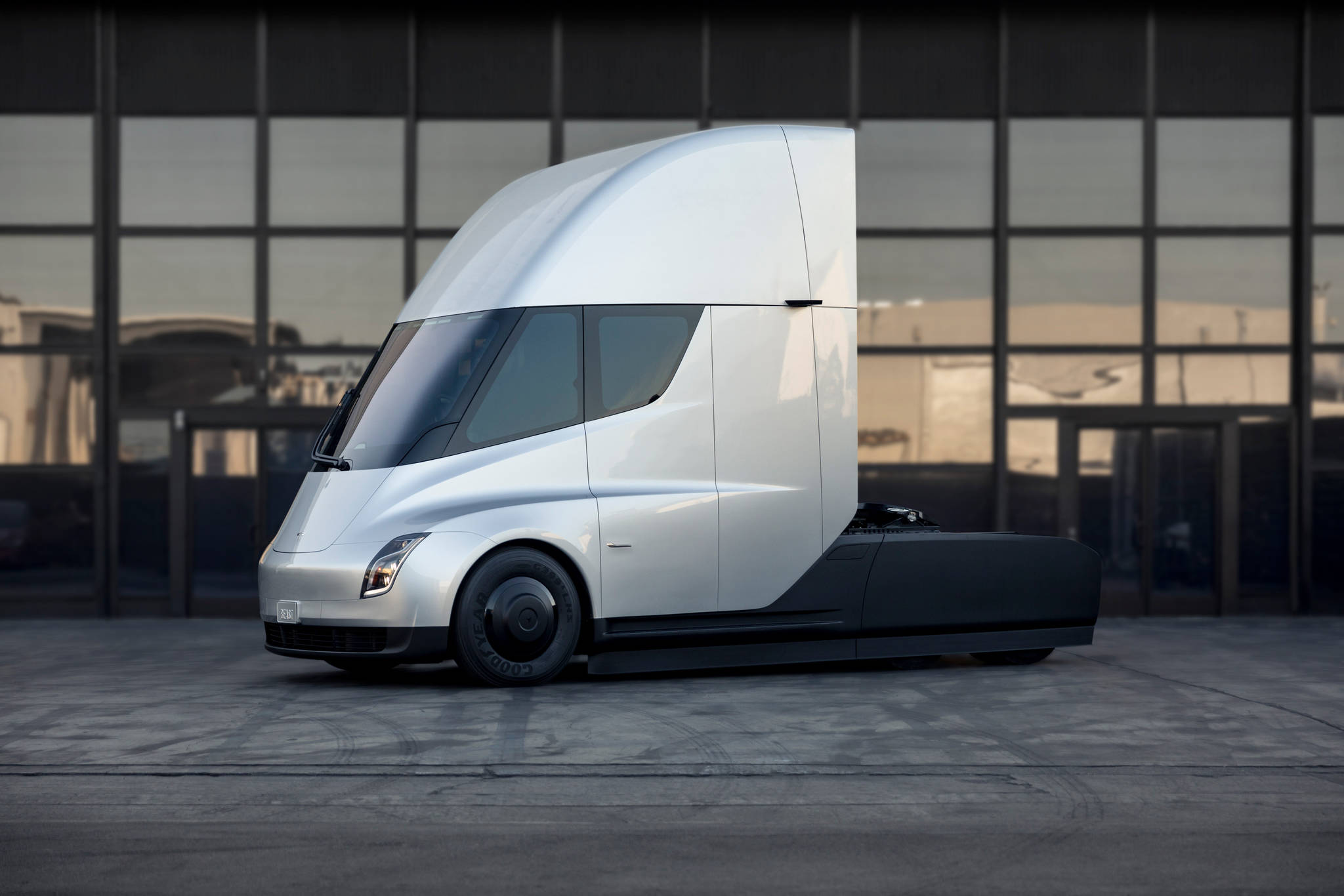Mosaic Forest Management will be testing out Tesla semis as part of a pilot project. Photo courtesy of Tesla Inc.