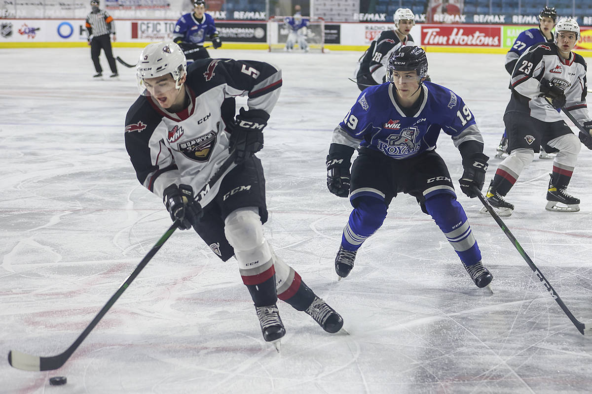 Vancouver Giants victorious over the Royals in Kamloops Thursday, April 15. The G-Men won, 4-0. (Allen Douglas/Special to Black Press Media)