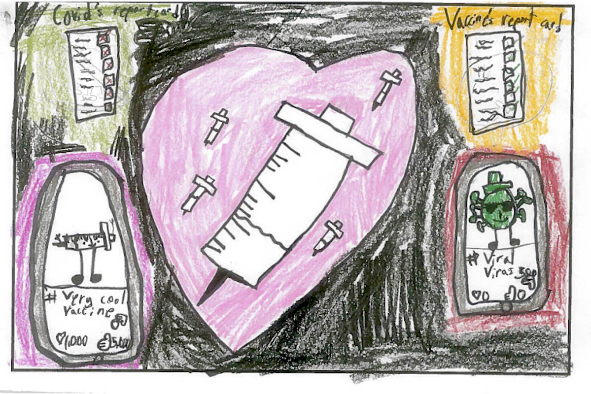 Valen a student of Coldstream Elementary writes advice for adults amid a pandemic.