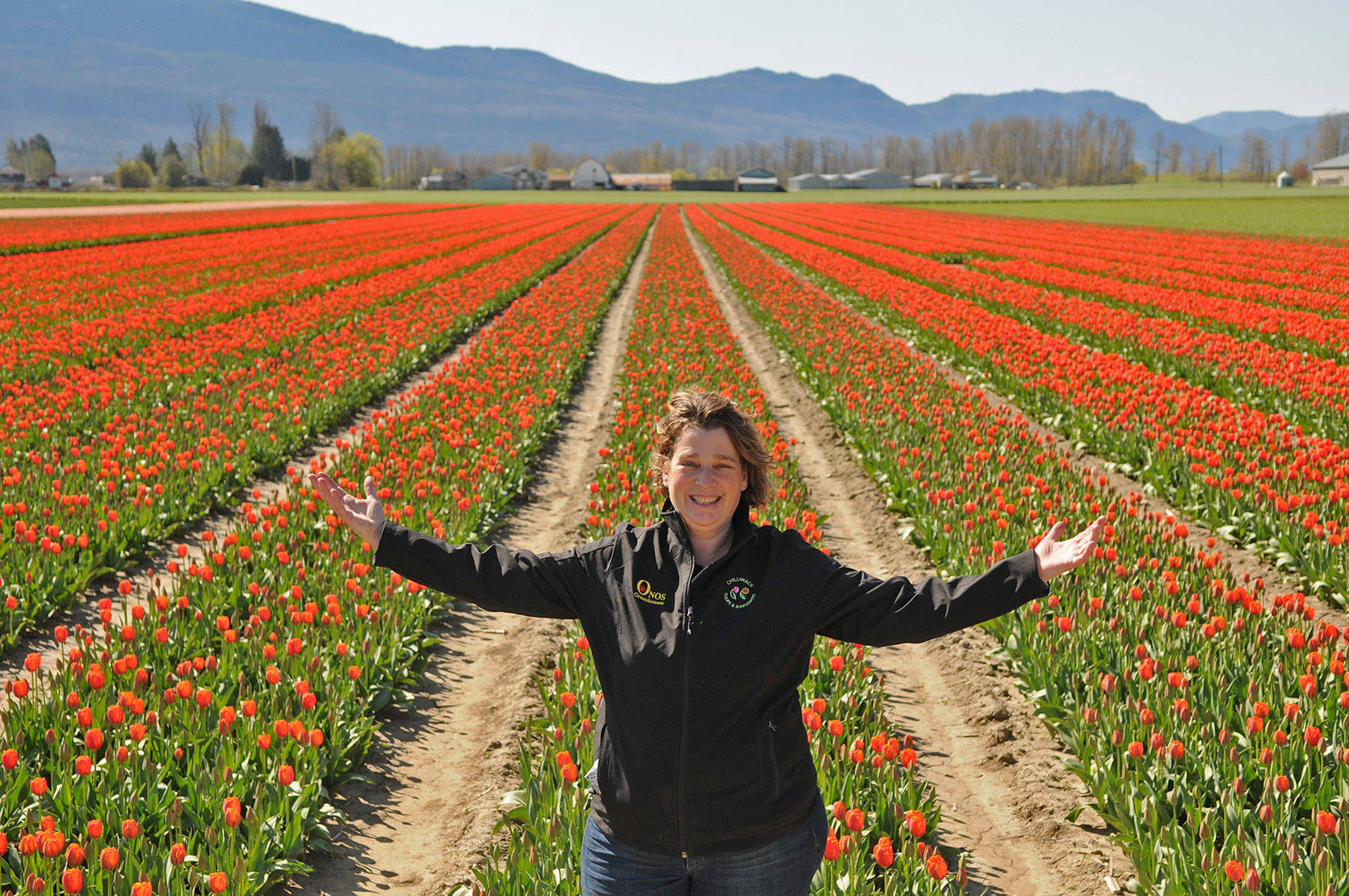 Kate Onos-Gilbert, founder of Chilliwack Tulips, is welcoming Fraser Valley residents to come see some of the 6.5 million bulbs that were planted at her farm in Chilliwack. (Jenna Hauck/ Chilliwack Progress)