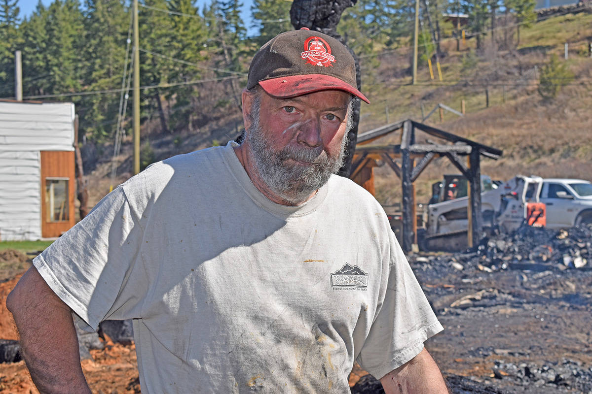 "Ken Sheen had a sleepless night after a fire Friday, April 16. ""It's one step at a time—get the place cleaned up and then start figuring out how we get a shop back in and some more tools,"" he said the following day. (Rebecca Dyok photo)"