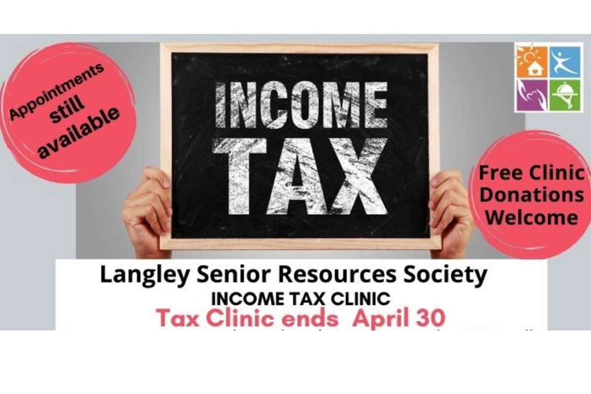 The Langley Seniors Resource Centre has a tax clinic that wraps up April 30, 2021. (LSRC grpahic)