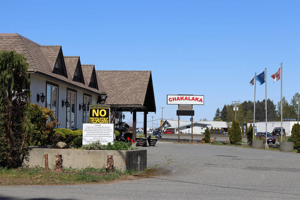 Chakalaka Bar & Grill remains open in defiance of orders from Island Health to close. (Cole Schisler photo)