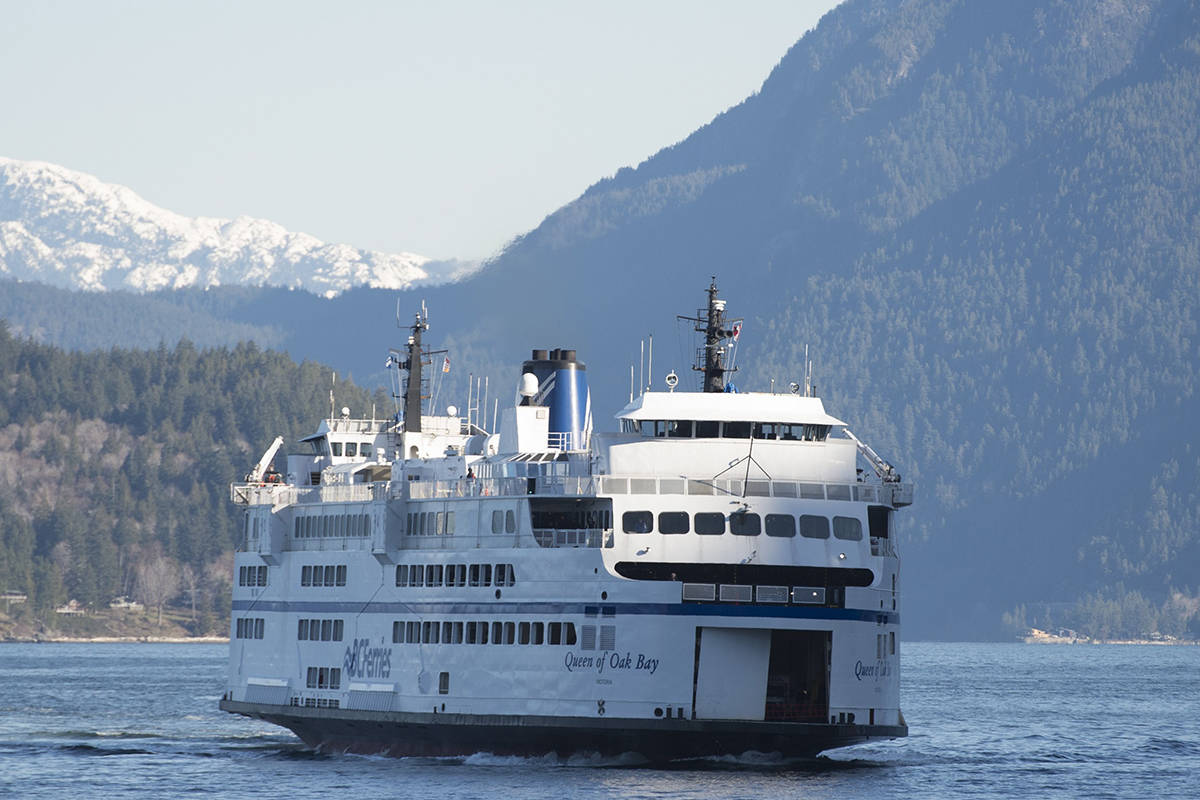 FILE – A B.C. Ferry is seen arriving at Horseshoe Bay near West Vancouver on March 16, 2020. THE CANADIAN PRESS/Jonathan Hayward