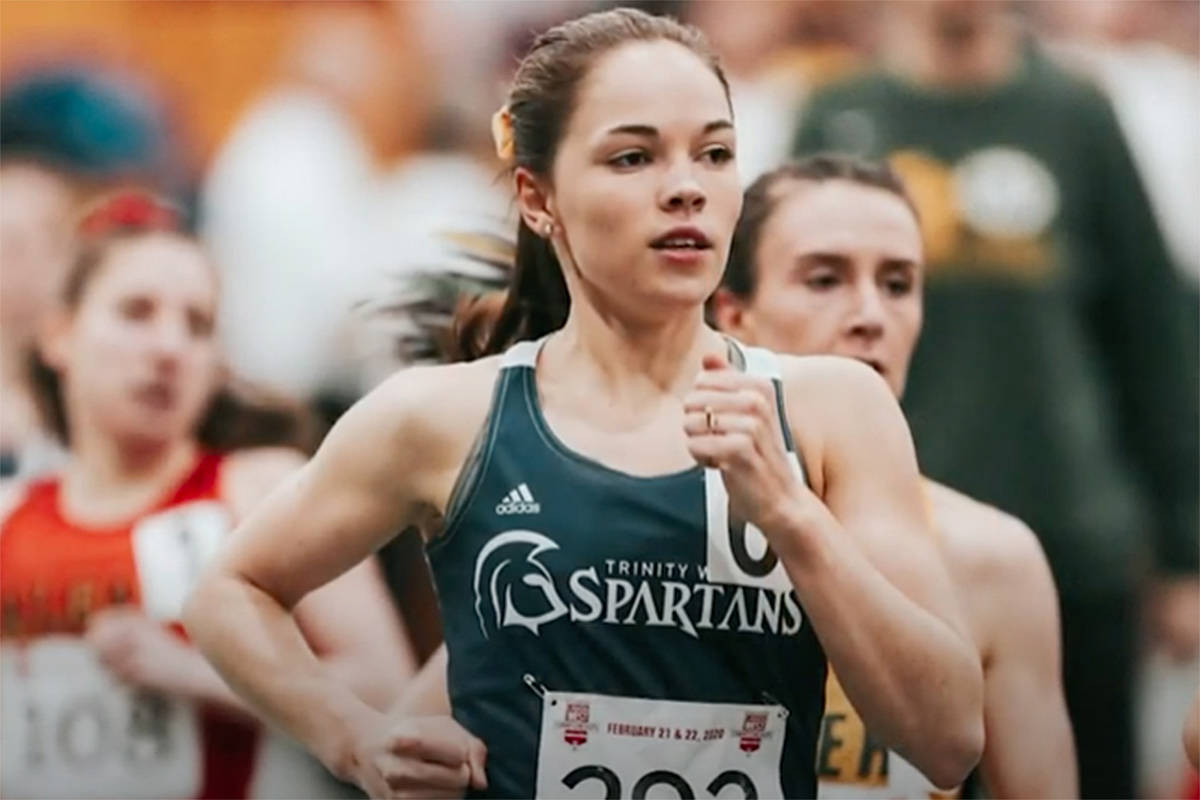 Jen Kits was one of three Spartans athletes recognized Sunday night for her overall contributions to her sport and Trinity Western University. (Spartans/Special to Langley Advance Times)