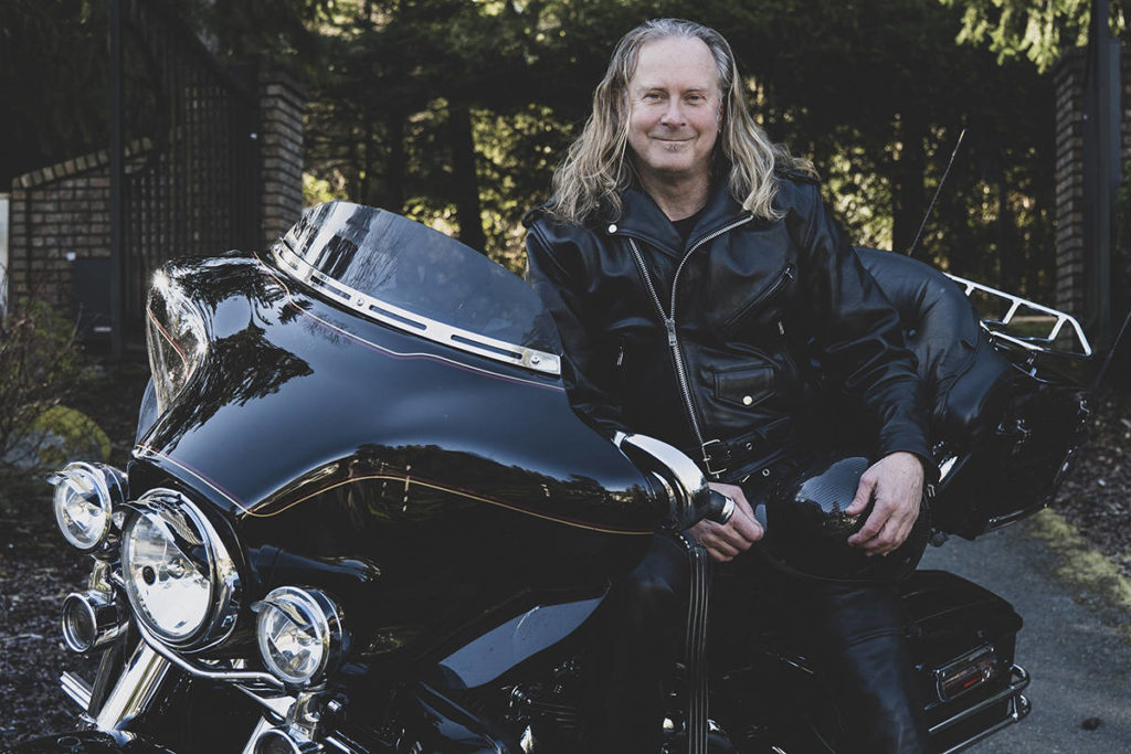 Victoria real estate agent and motorcycle enthusiast Ron Neal. Lia Crowe photography