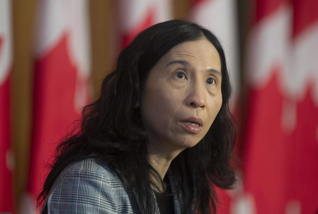 Chief Public Health Officer Theresa Tam speaks during a technical briefing on the COVID pandemic in Canada, Friday, January 15, 2021 in Ottawa. Tam says new information on COVID-19 and variants prompted the National Advisory Committee on Immunization to suddenly cancel its planned update on who should get the Oxford-AstraZeneca vaccine.THE CANADIAN PRESS/Adrian Wyld