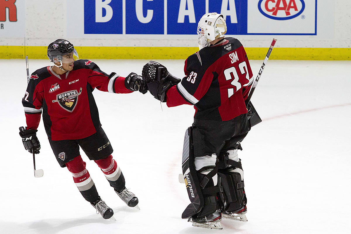 Vancouver Giants recorded three power-play goals Wednesday against the Victoria Royals. This is a new season-best for the G-Men. (Paige Bednorz/Special to Black Press Media)