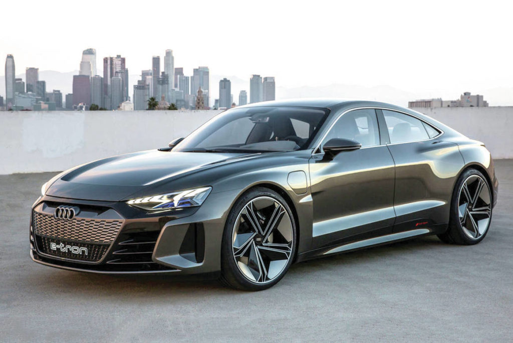 The new E-Tron GT uses the same platform as the Porsche Taycan and the Audi will likely cost less. PHOTO: AUDI