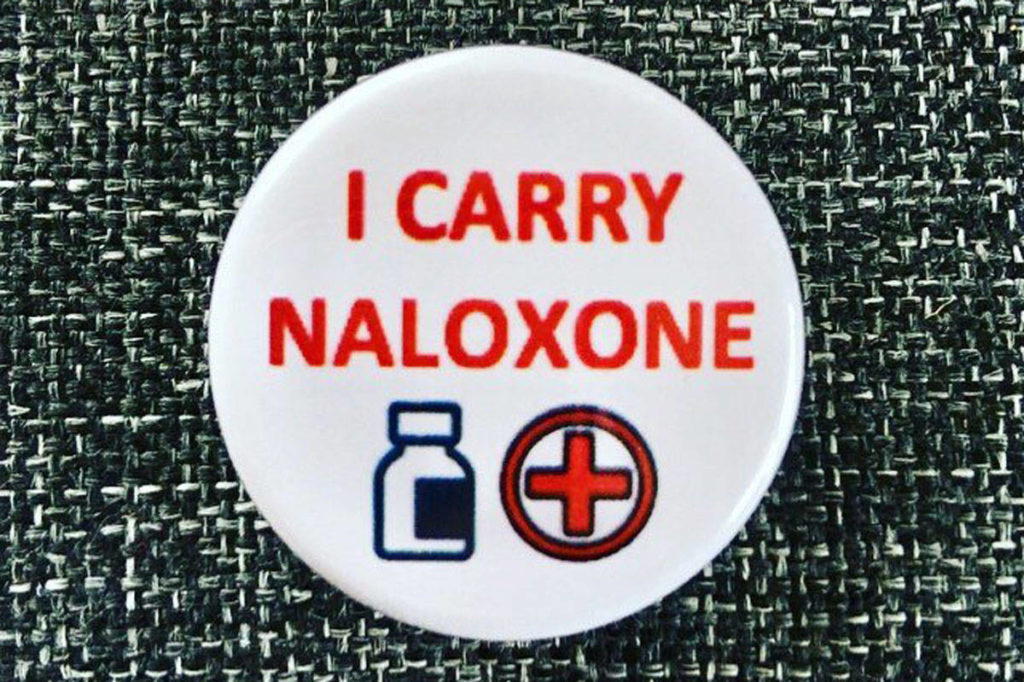 As part of the province's strategy to combat the opioid overdose crisis, take-home naloxone kits have been distributed throughout the province. (Courtesy of Gaëlle Nicolussi)
