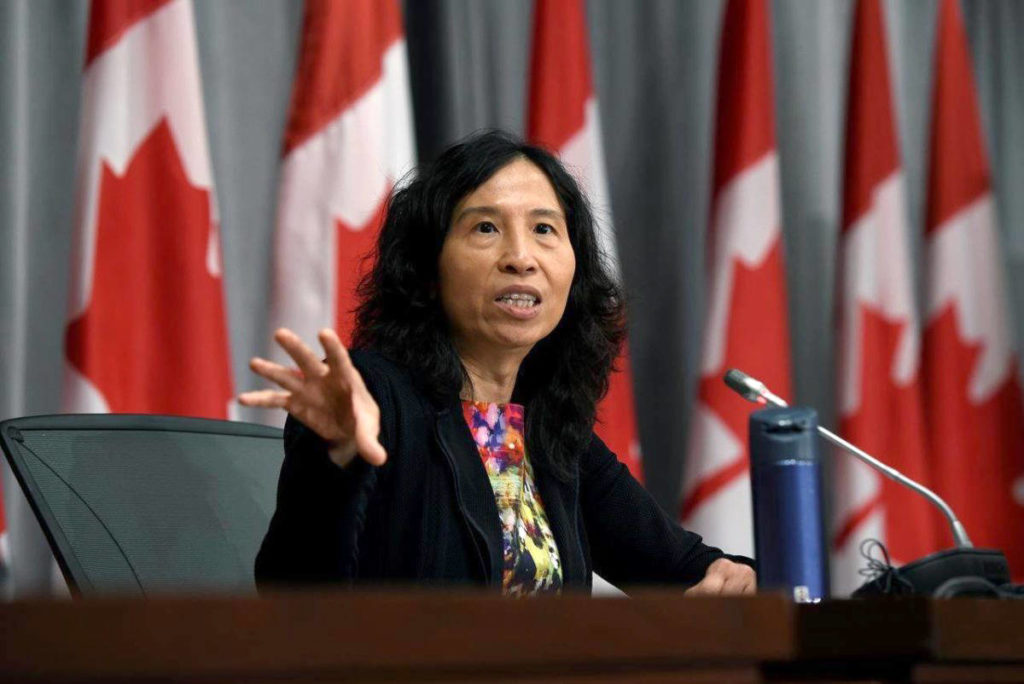 Canada's chief public health officer Dr. Theresa Tam at a press conference last year. (THE CANADIAN PRESS)