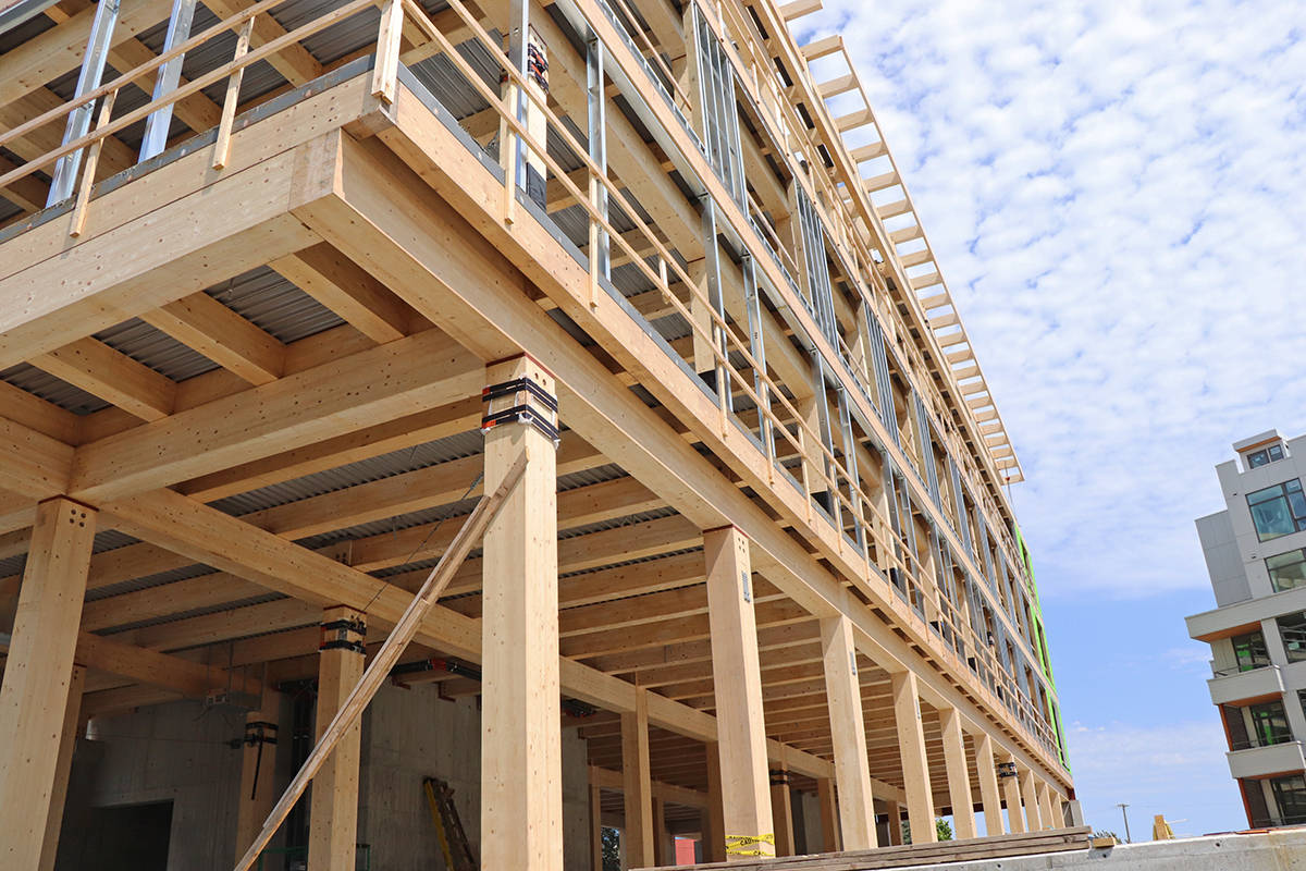 BC Housing has released a request for proposals to find a contractor that will conduct an economics of mass timber study. The bidding process closes April 28, 2021. (Don Descoteau/Black Press Media)