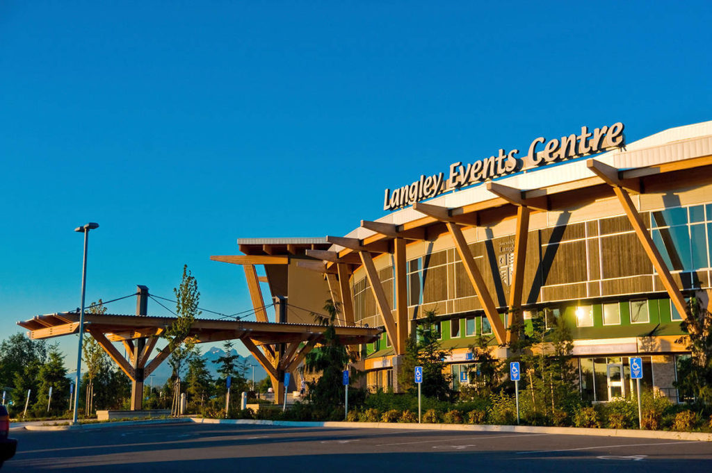 Fraser Health announced a drop-in vaccination clinic for the South Langley region on Sunday, April 25, at the Langley Events Centre, saying the area is a 'high-transmission' neighbourhood (file)