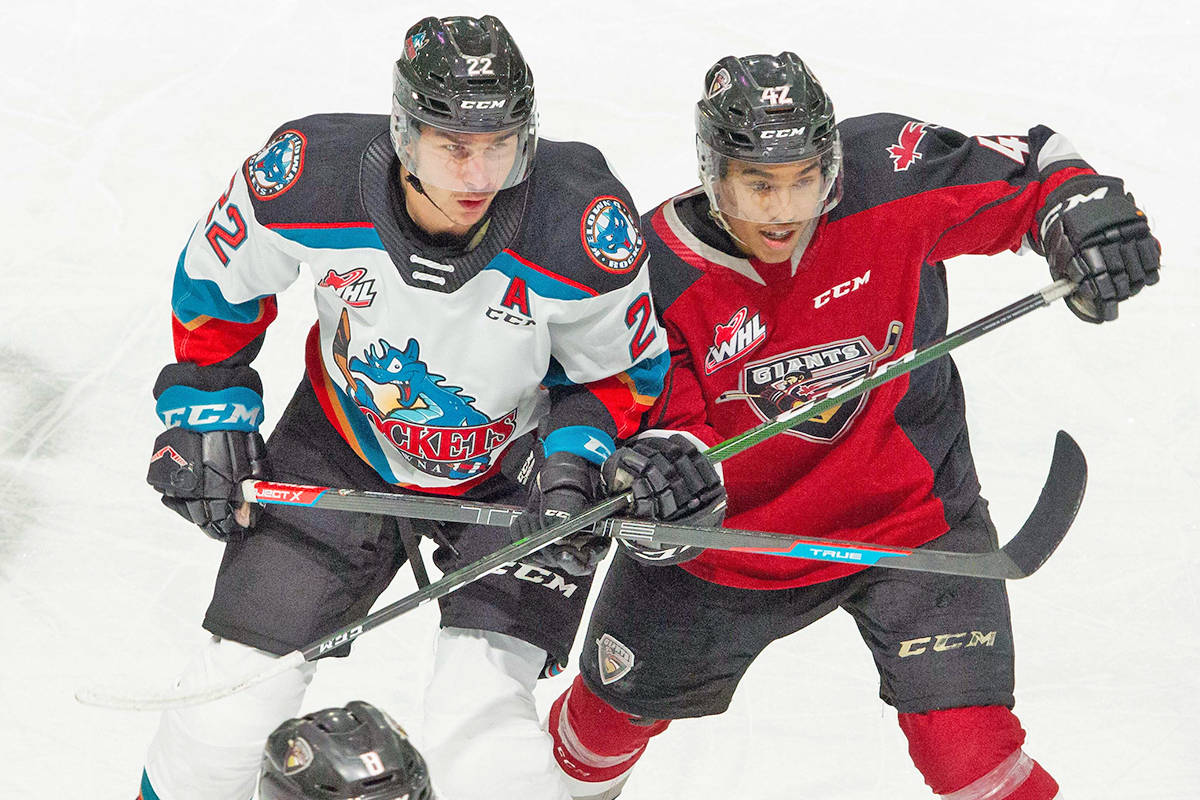 Justin Sourdif had a good game against Kelowna Saturday, but it was in a losing cause, as it turned out. (Paige Bednorz/Special to Black Press Media)