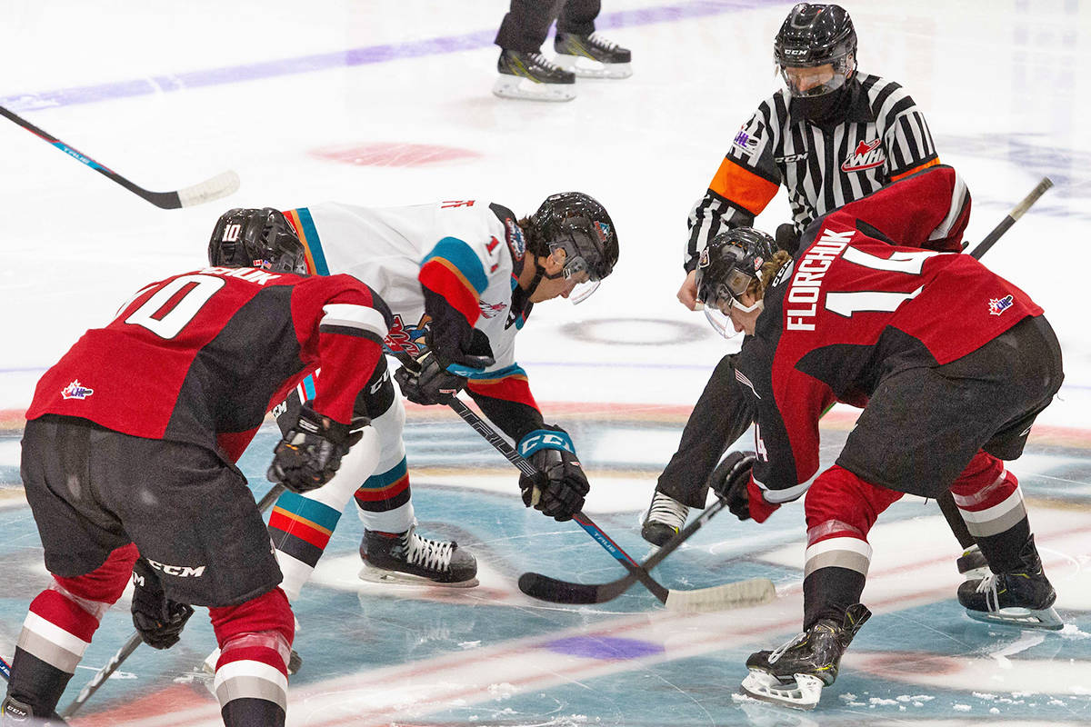 Kelowna ended the Langley-based Vancouver Giants winning streak on Saturday. (Paige Bednorz/Special to Black Press Media)