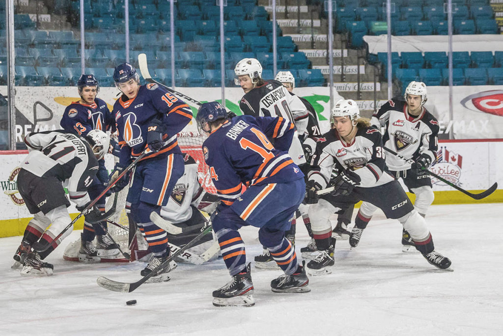 Vancouver Giants dropped a 2-0 decision to the B.C. Division leading Kamloops Blazers Sunday night, April 25 in Kamloops. (Tricia Mercuri/Special to Black Press media)