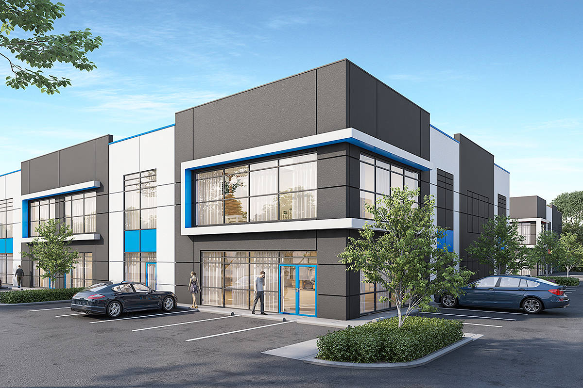 A rendering of the building, where construction is starting now. (Wesmount Properties/Special to the Langley Advance Times)