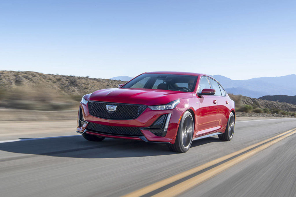 As a competitor to Audi, Mercedes-Benz, Lexus and BMW, the CT-5 has to look both tough and sophisticated. The designers nailed this one. PHOTO: CADILLAC