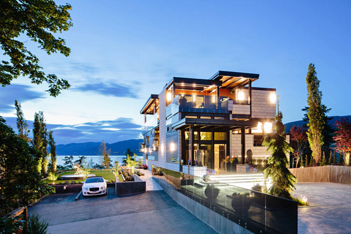 """The $12.8 million house at 587 Vancouver Avenue in Penticton, nominated for several International Design Awards, is described as a property that """"has been designed with an obsessive level of attention to detail."""" (Jon Adrian / Kevin Chen Realty)"""