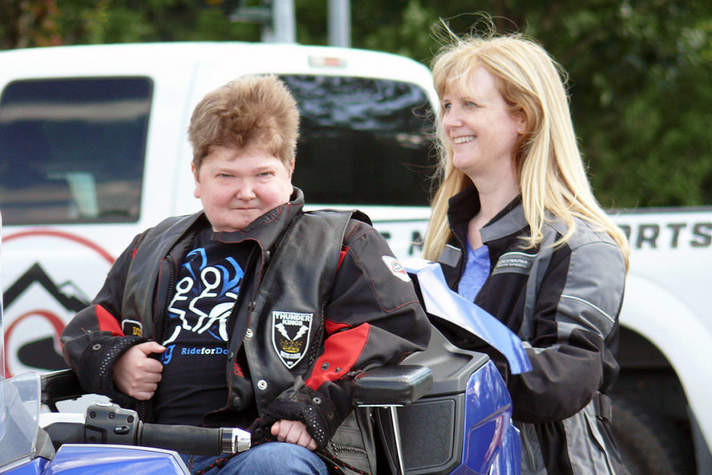 Doug Penner and his mom Allison awaited the start of the 2020 edition of the fundraising ride that bears his name, held under strict COVID-19 protocols. This year, the annual event will mark its 15th year. (Langley Advance Times file)