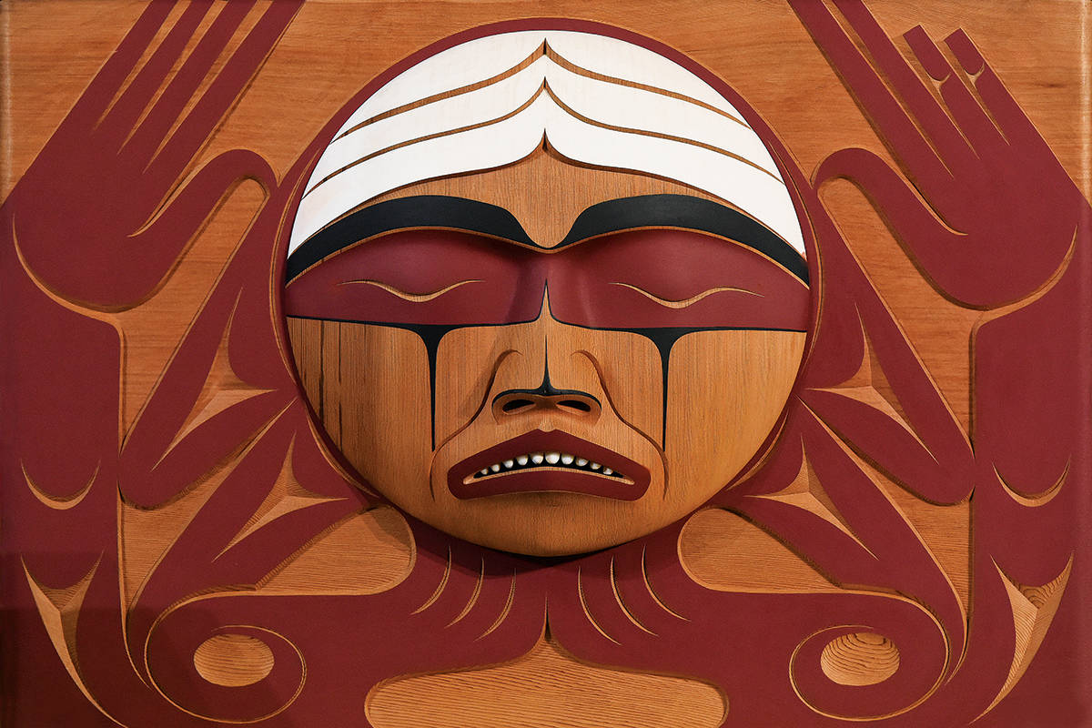 Carved by Vancouver Islander Luke Marston, the Truth and Reconciliation Bentwood Box is a tribute to all residential school survivors and travelled across the country with the TRC to all its official events. (University of Manitoba)