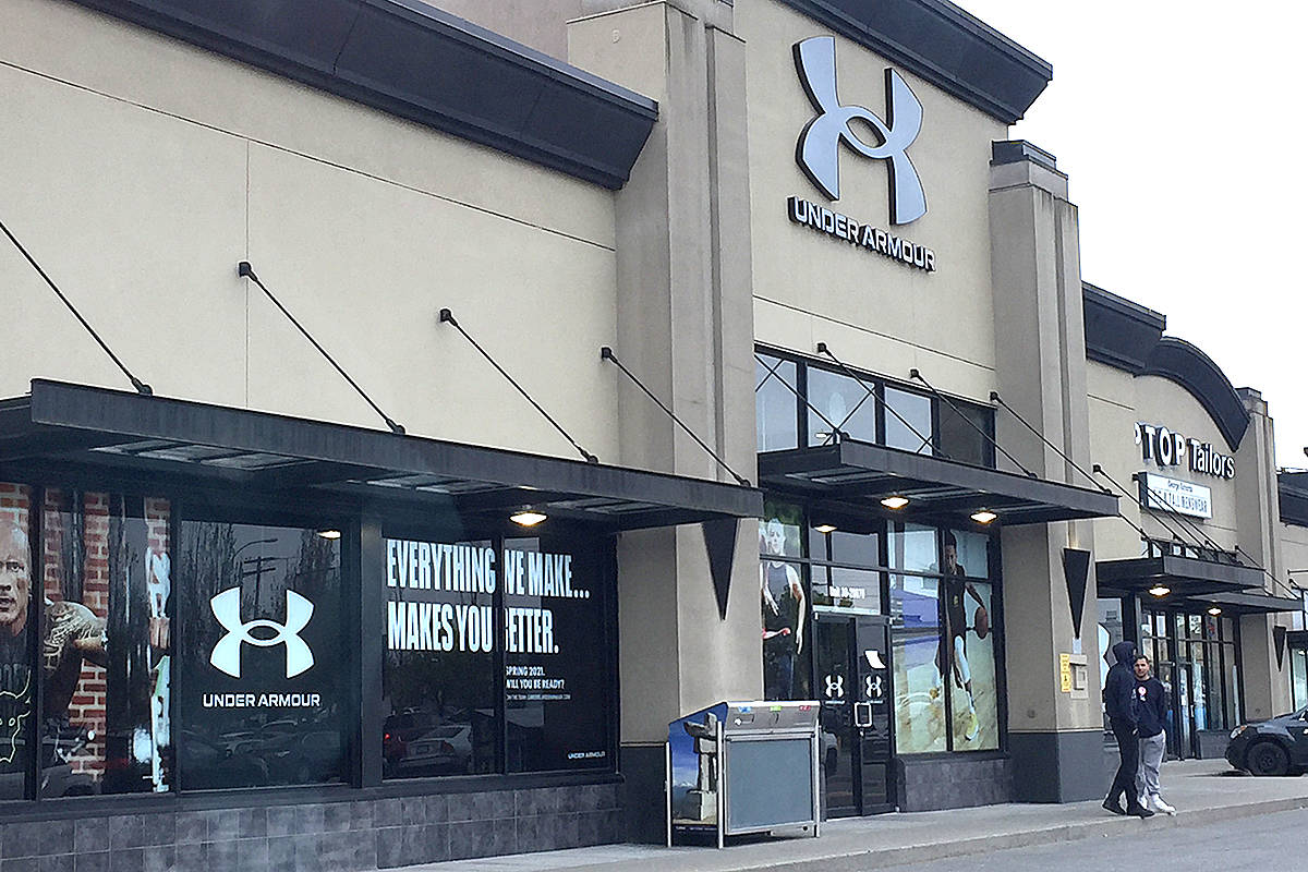 Under Armour opened a retail store along the Langley Bypass on Monday, April 26. (Roxanne Hooper/Langley Advance Times)